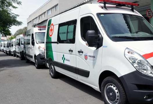 Cinco ambulâncias novas reforçam a frota do HM de Maringá