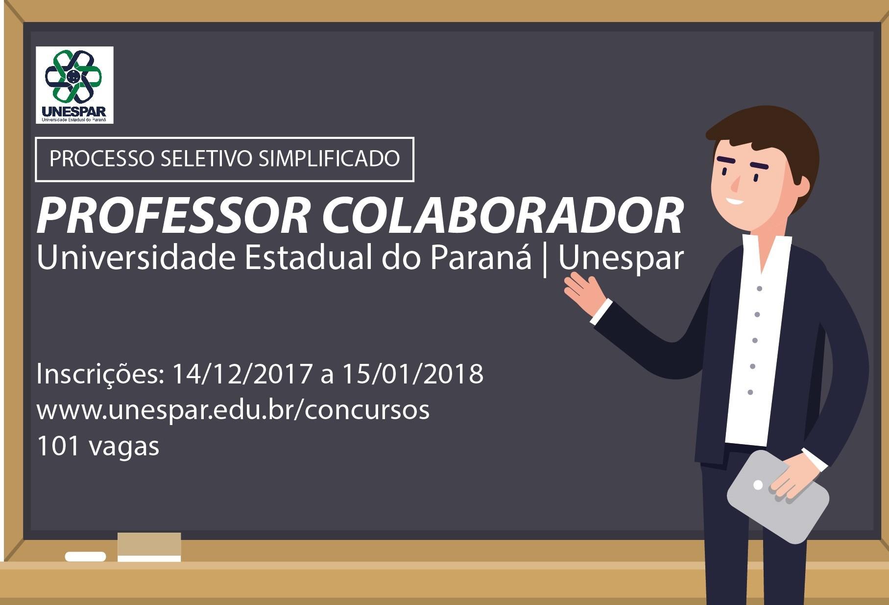 Unespar realiza teste seletivo para contratação de professores