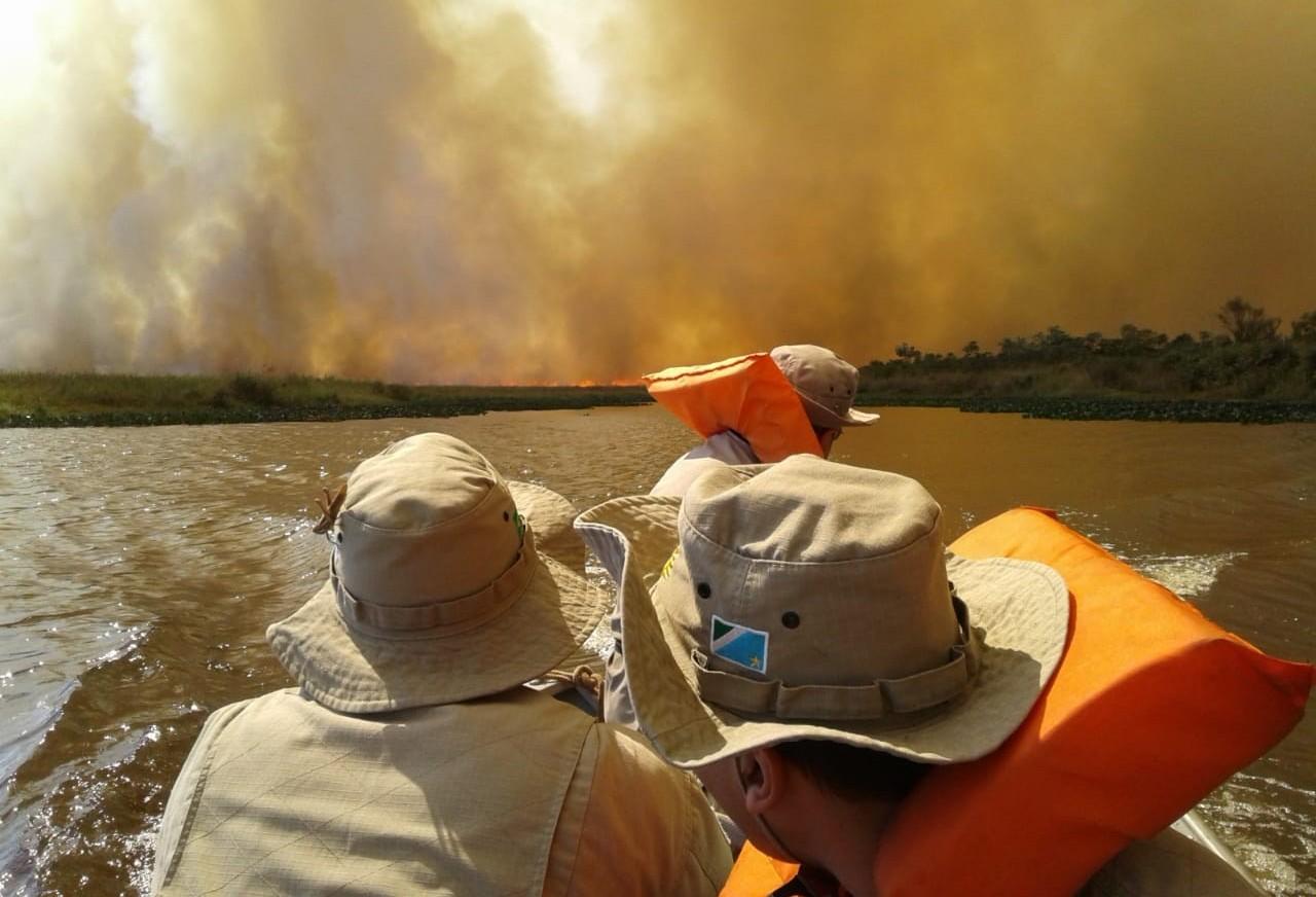 Fogo se alastra ainda mais no Parque Nacional de Ilha Grande