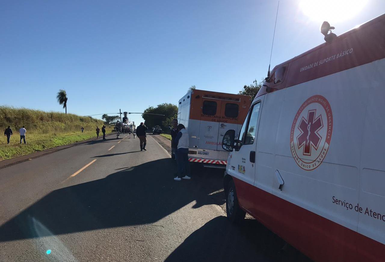 Acidente na PR-317 mata uma pessoa e deixa outras duas feridas