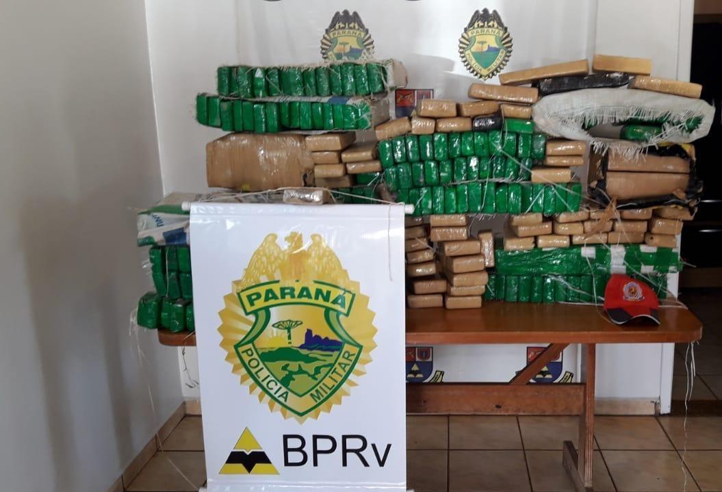 Homem é preso com 349 tabletes de maconha em Umuarama