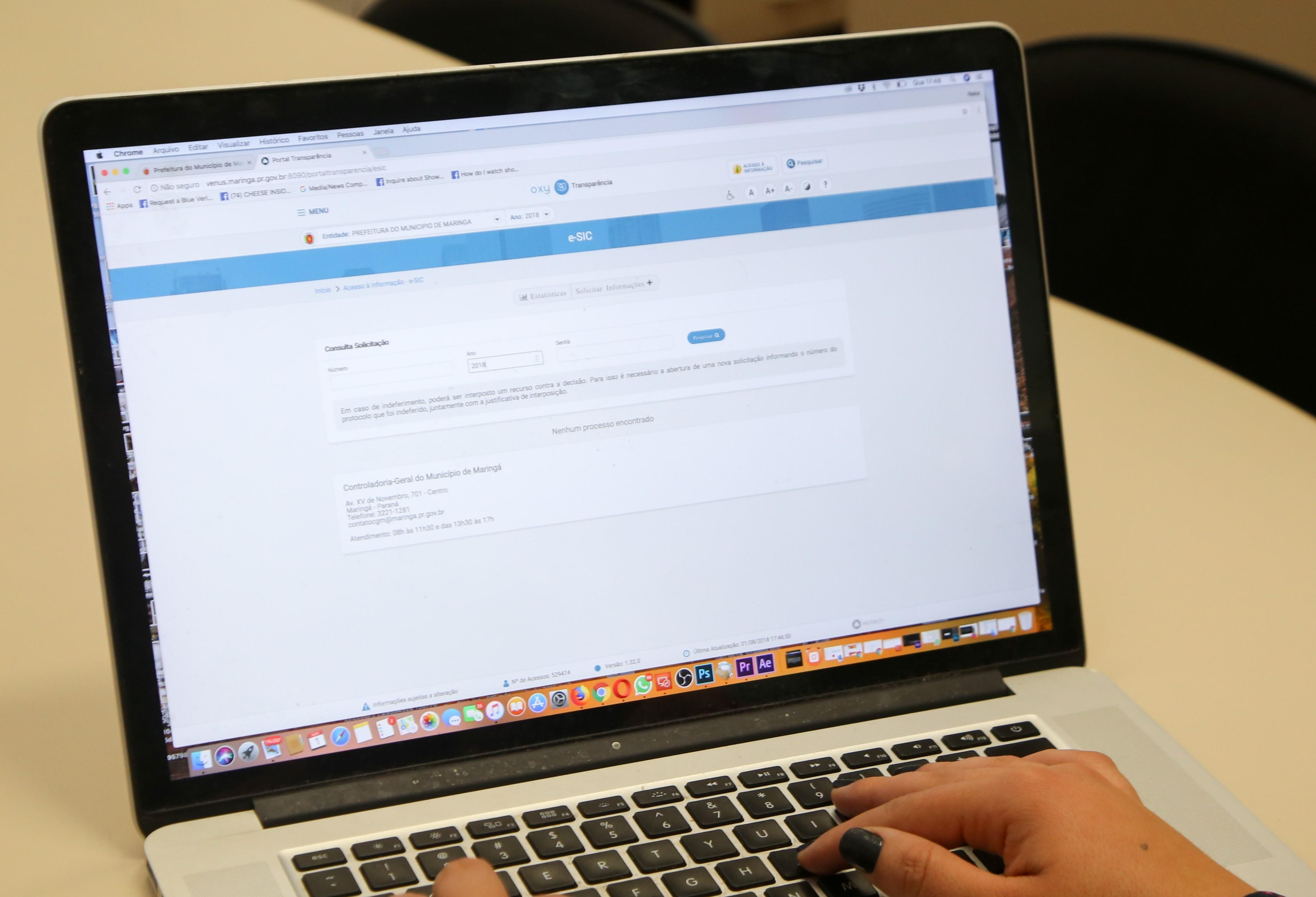 Portal da Transparência da Prefeitura de Maringá está sendo atualizado