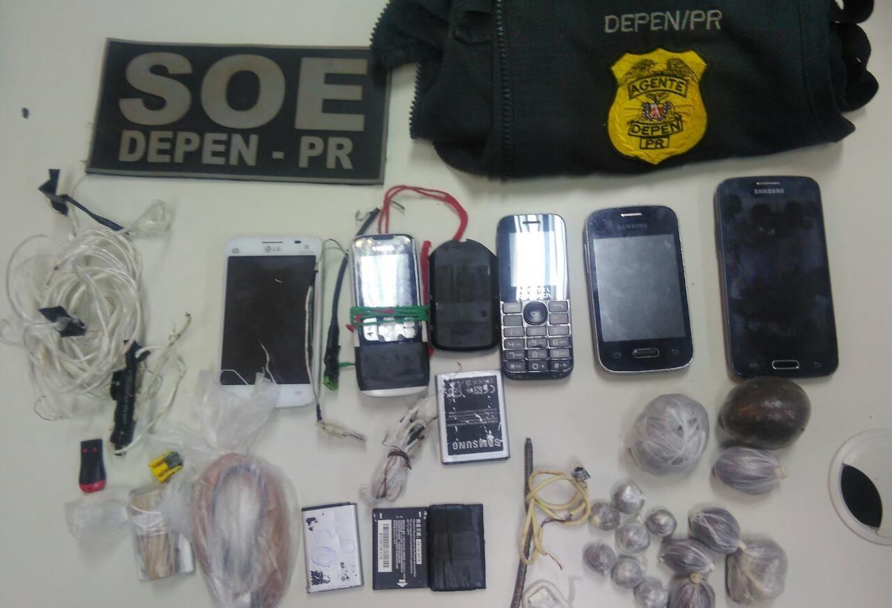 SOE apreende cinco celulares na Casa de Custódia