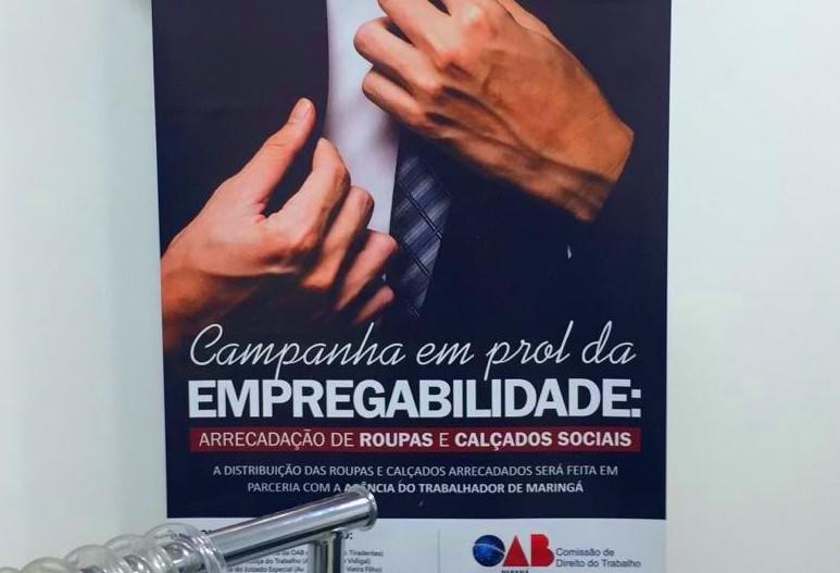 OAB Maringá doa roupas sociais para candidatos a uma vaga de emprego
