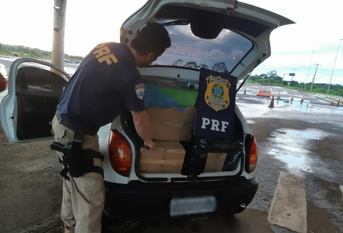 PRF apreende mais de R$ 30 mil em eletrônicos contrabandeados