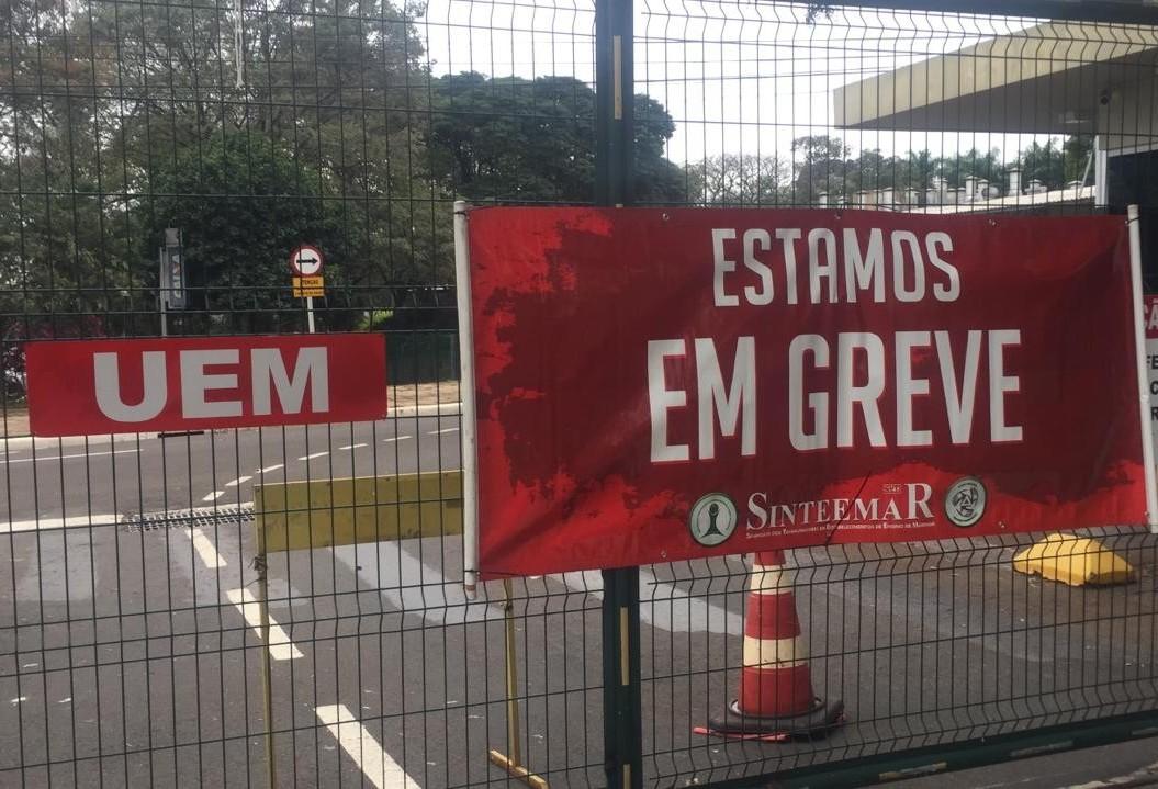 Portões da UEM estão fechados nesta quinta-feira (27)