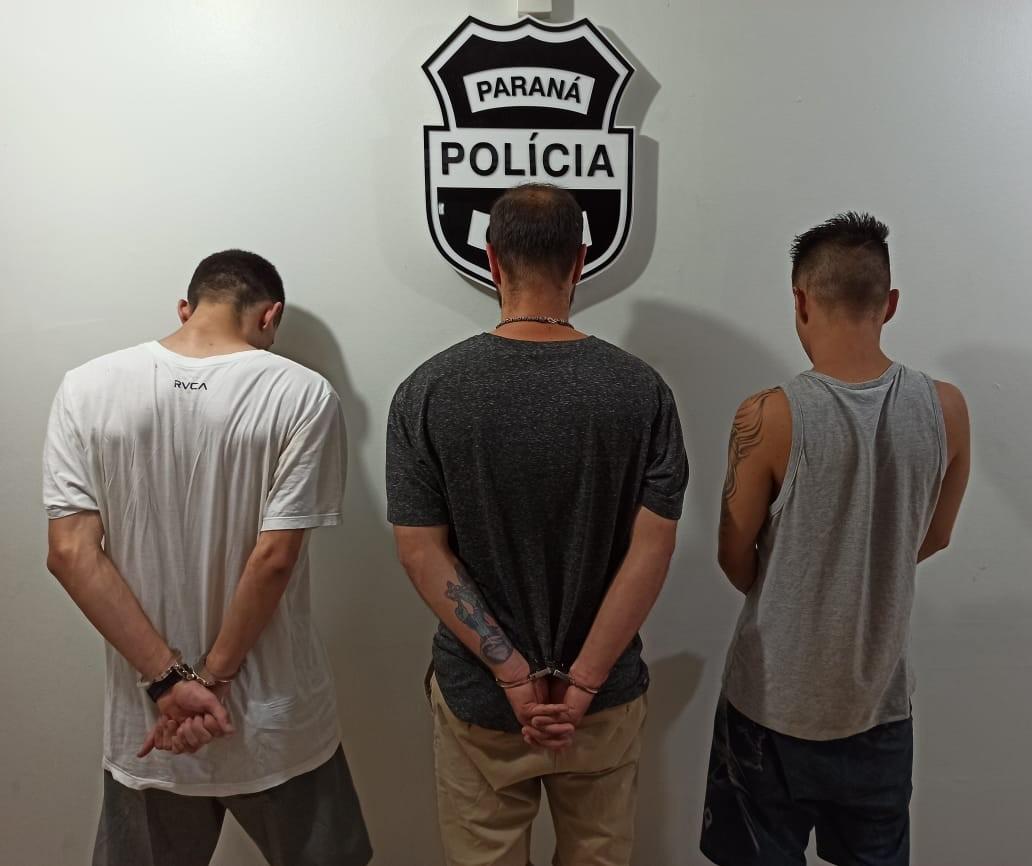Polícia prende três suspeitos de invadir prédio comercial em Maringá