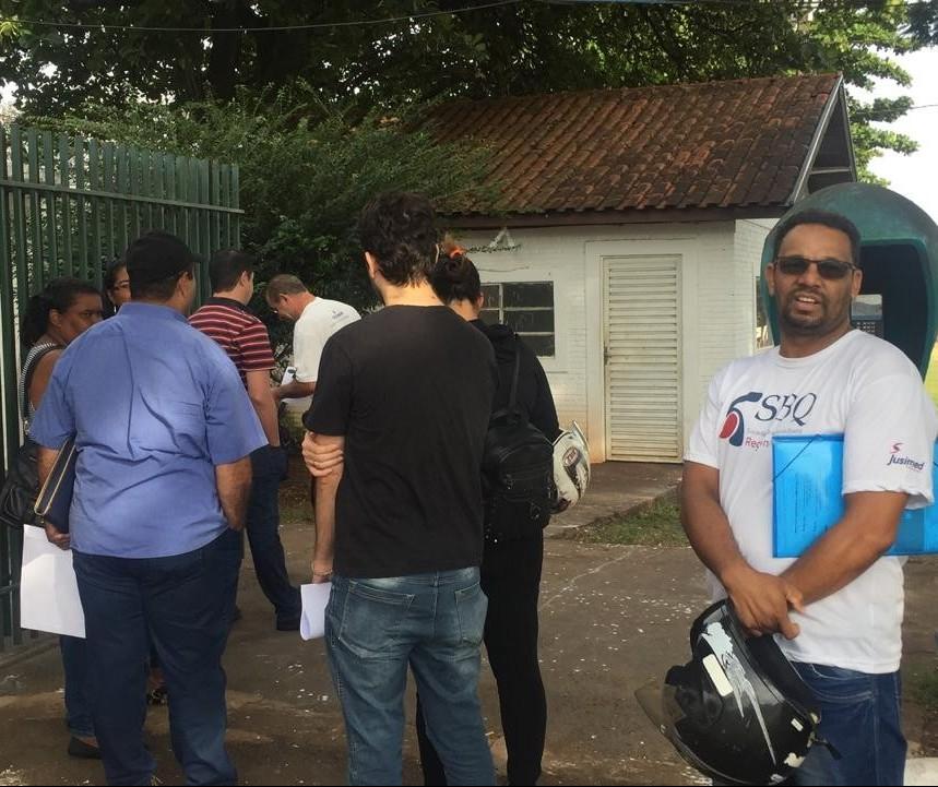 Candidatos a vigilante se inscrevem para vaga