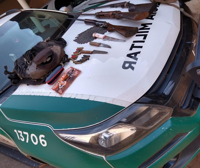 Dois homens são presos em flagrante por caça em São Jorge do Ivaí