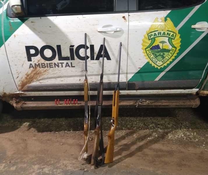 Três caçadores são presos em flagrante na Reserva das Perobas