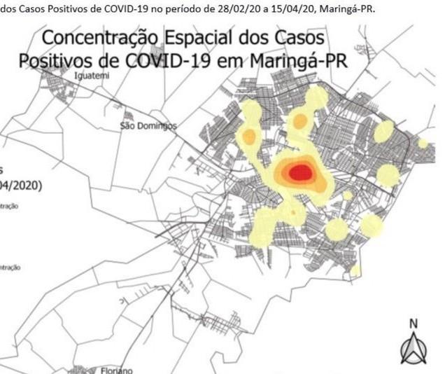 Maioria dos infectados por Covid-19 em Maringá mora no centro