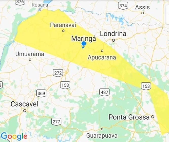 Defesa Civil emite alerta amarelo para Maringá e região