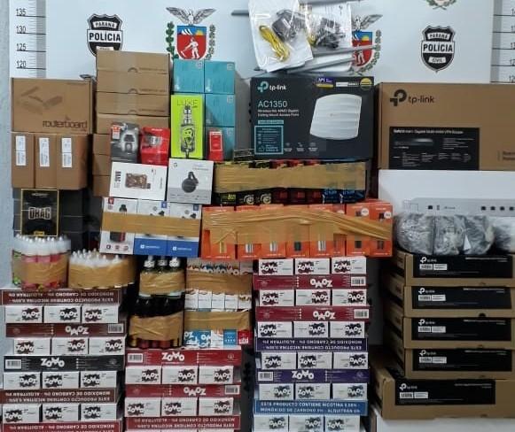 Polícia Civil apreende produtos oriundos de descaminho em Iporã