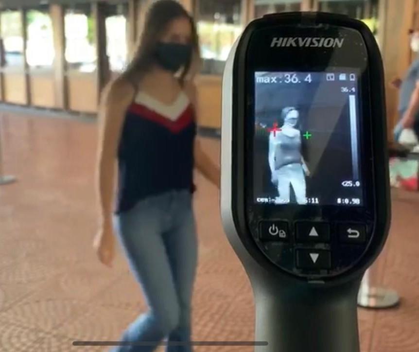 Shopping de Maringá usa câmeras para detectar sintoma da Covid-19