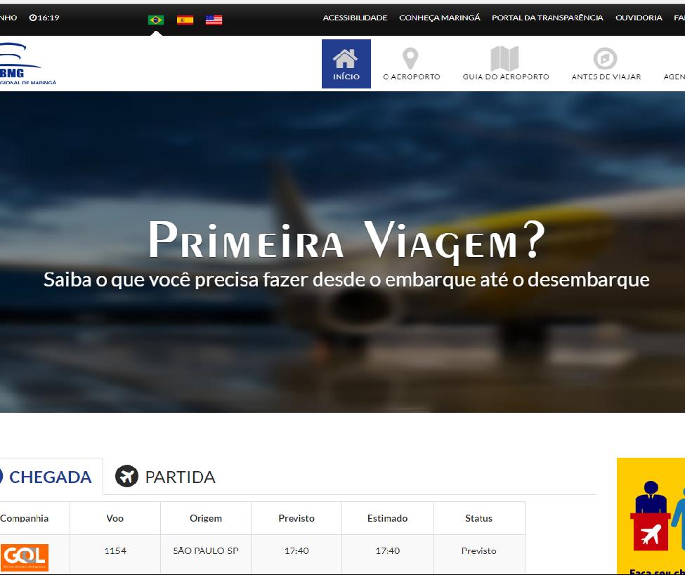 Aeroporto de Maringá tem site funcional