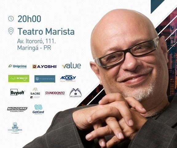 Luiz Felipe Pondé faz palestra em Maringá no próximo dia 22