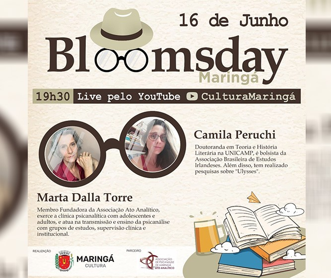 Maringá terá debate para celebrar o 'Bloomsday'