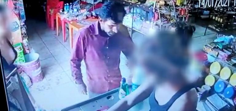 Polícia Civil tenta identificar homem que retirou uma criança à força de um supermercado em Paiçandu