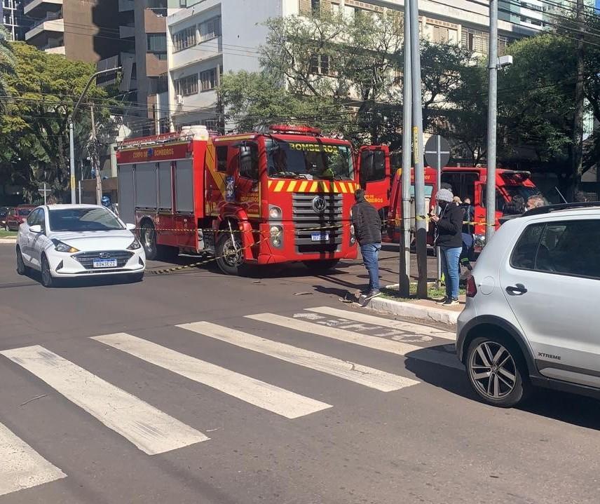 """""""Acidente de rodovia"""", diz tenente sobre batida no centro de Maringá"""