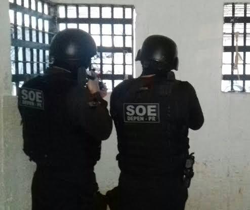 SOE, com apoio da PM, controla motim na cadeia de Cianorte