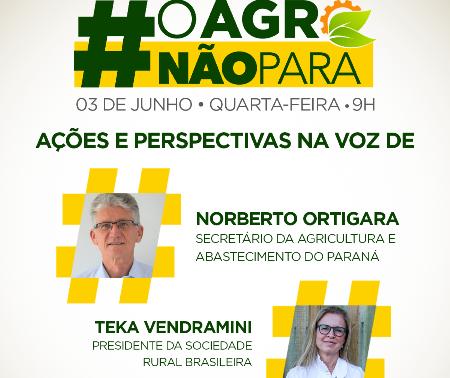 #OAgroNãoPara discute o momento atual e perspectivas para o setor do agronegócio