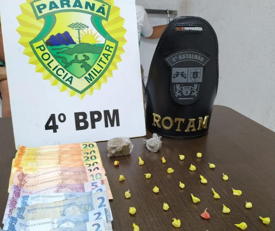 Duas pessoas são presas por tráfico de drogas em Maringá