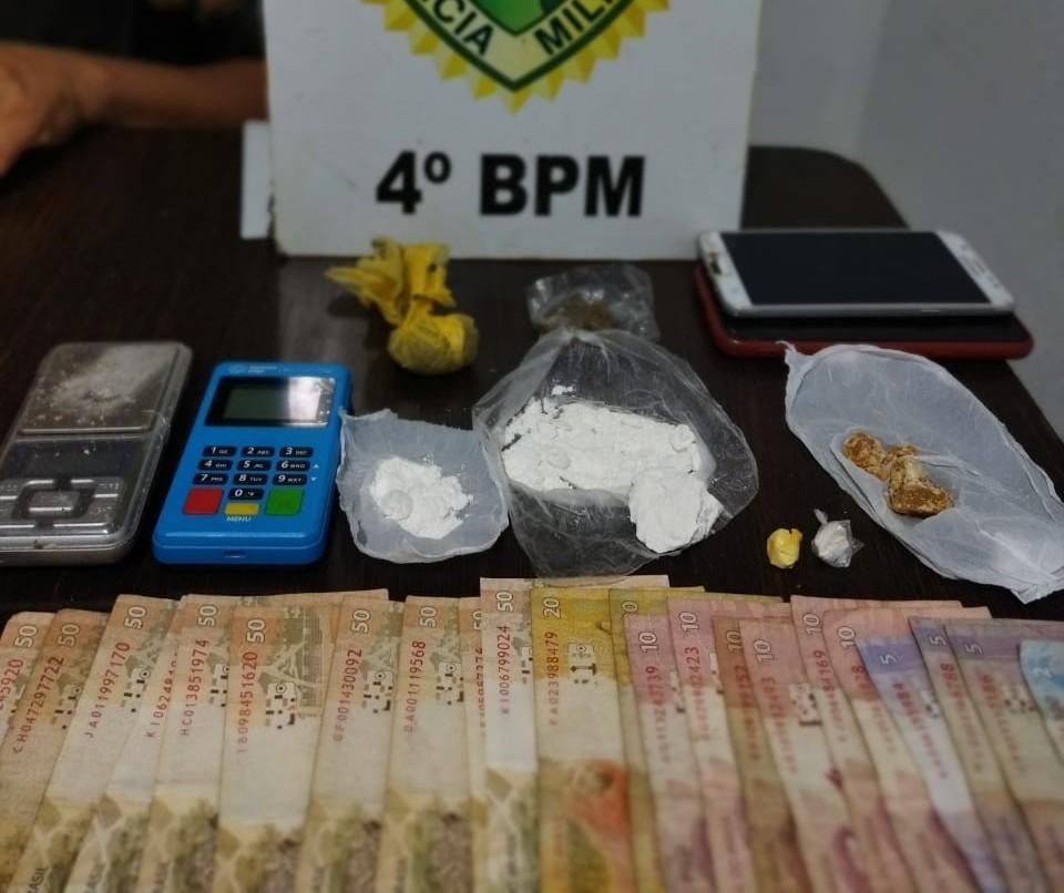 Três são detidos com drogas em bar no Jardim Alvorada, em Maringá