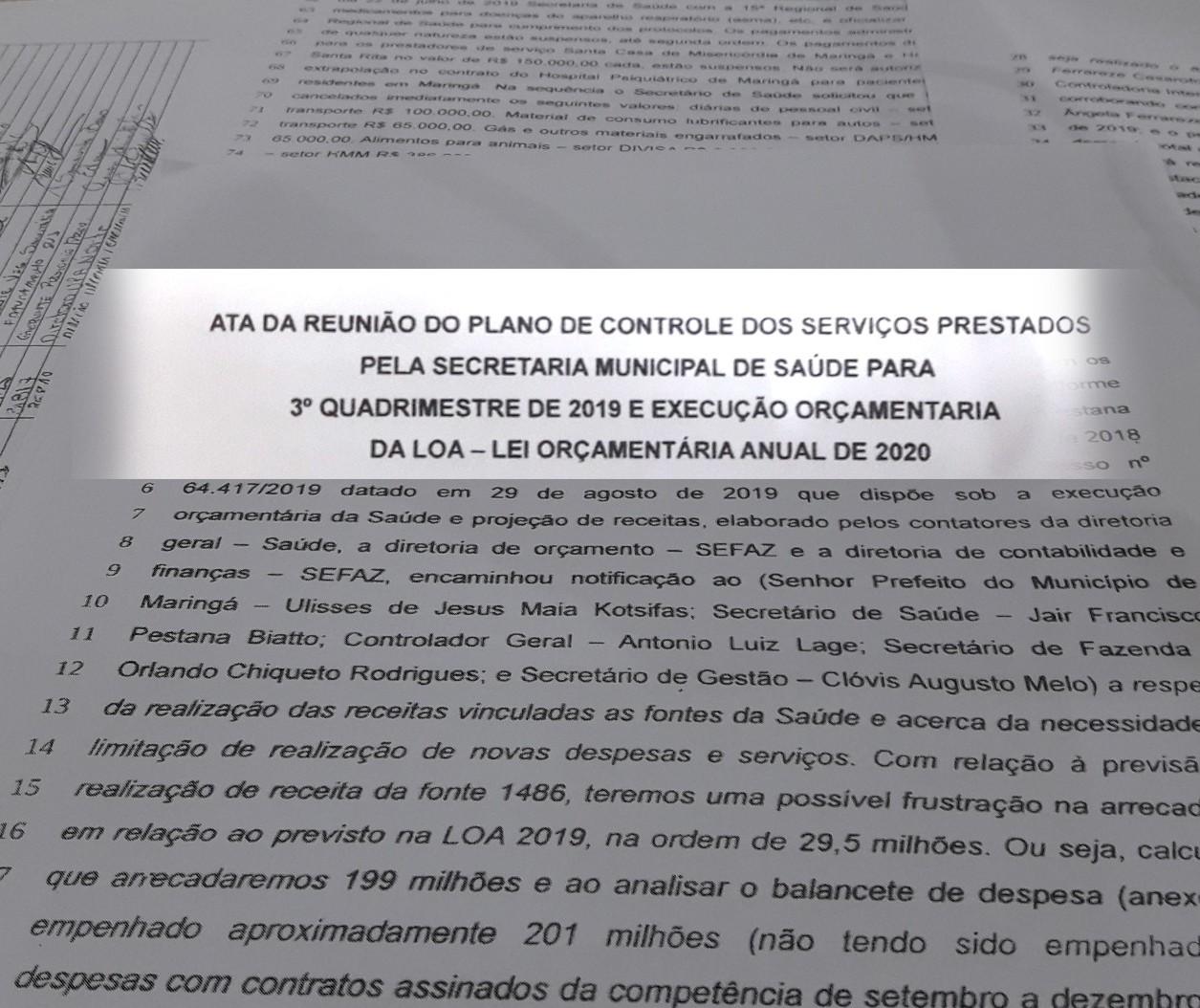 Com queda nas transferências de verbas, Saúde sofre cortes em Maringá