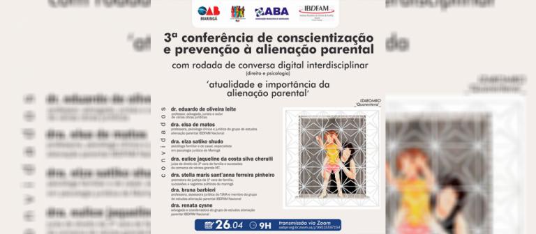 Conferência debate a prevenção à alienação parental