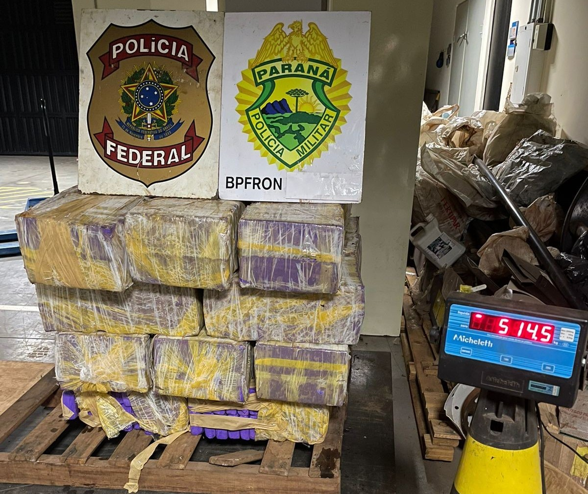 PF e BPFron apreendem meia tonelada de maconha em Guaíra