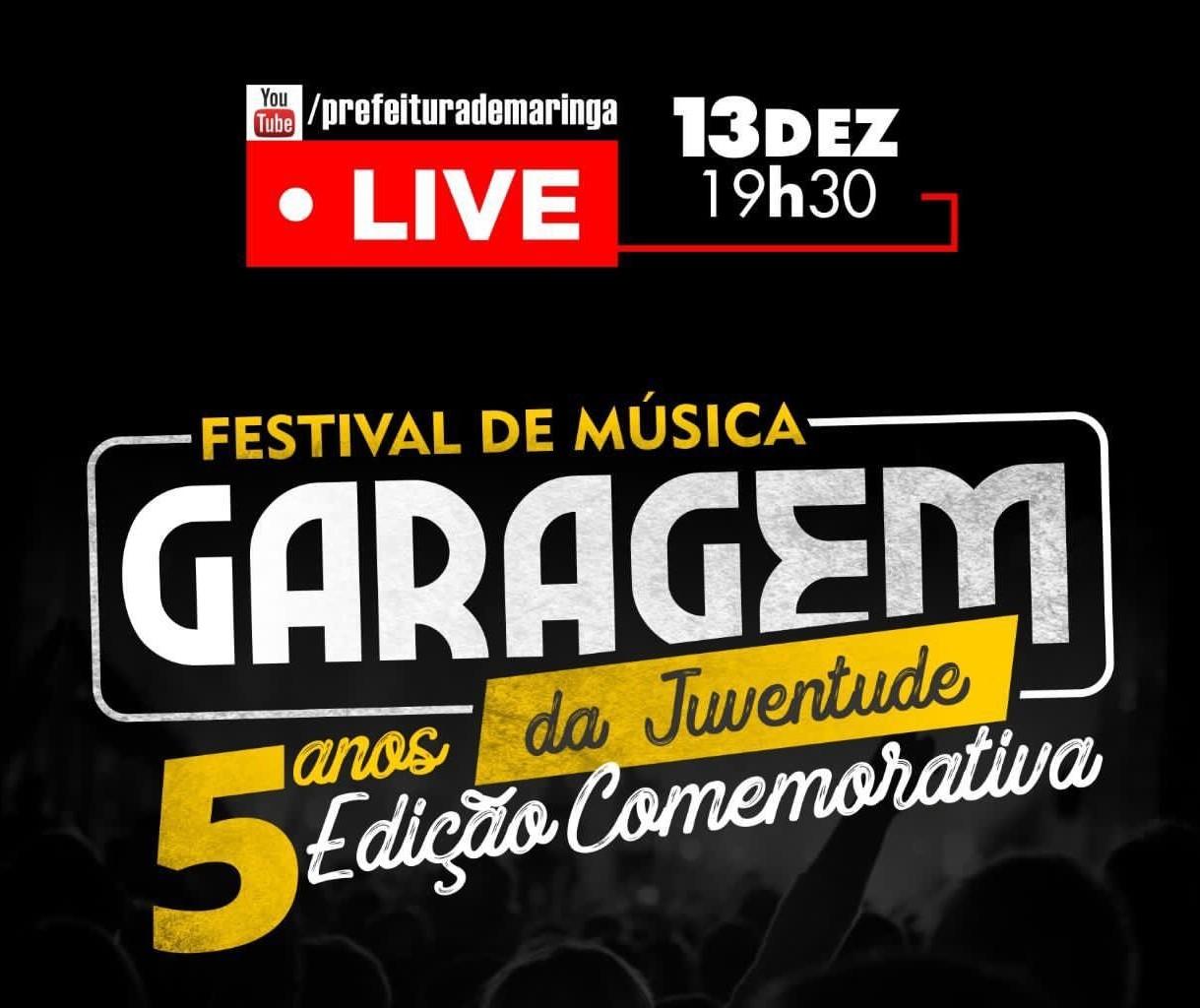 Festival Garagem da Juventude ocorre domingo (13) em formato diferente