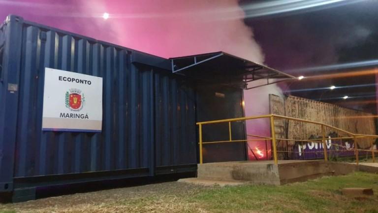 Sema flagra descarte irregular de recicláveis no Ecoponto Piatã, em Maringá