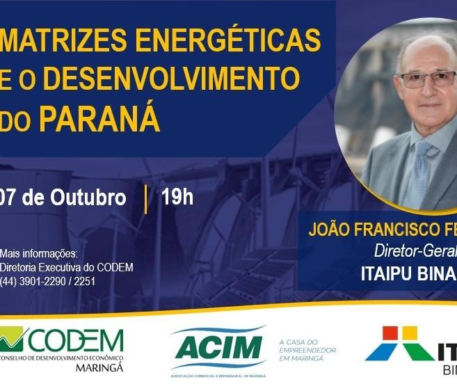 Codem promove palestra sobre matrizes energéticas