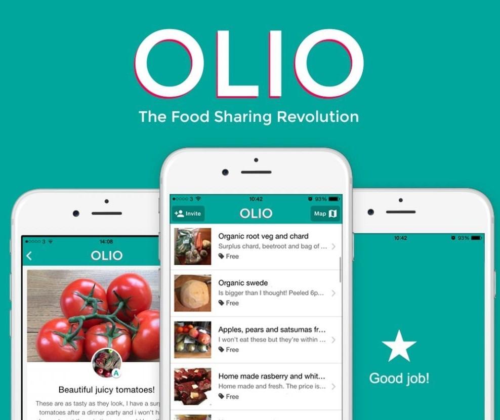 Olio, um aplicativo para compartilhar alimentos e produtos