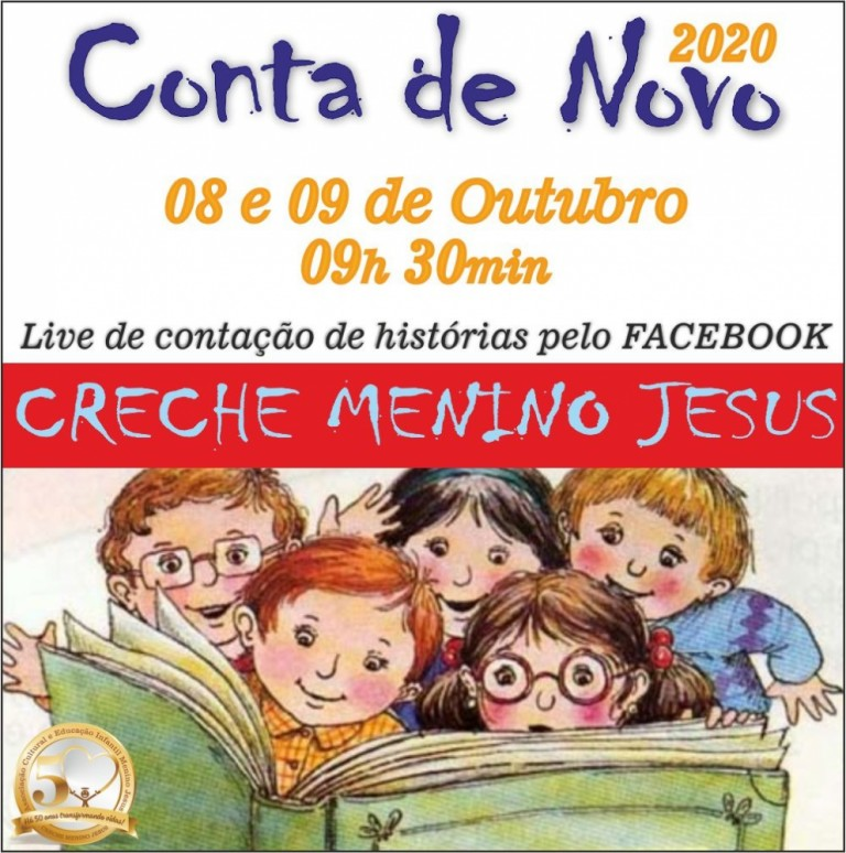 Contação de história online comemora 50 anos da Creche Menino Jesus
