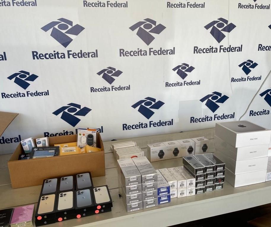 Receita Federal faz a maior apreensão do ano de mercadorias estrangeiras