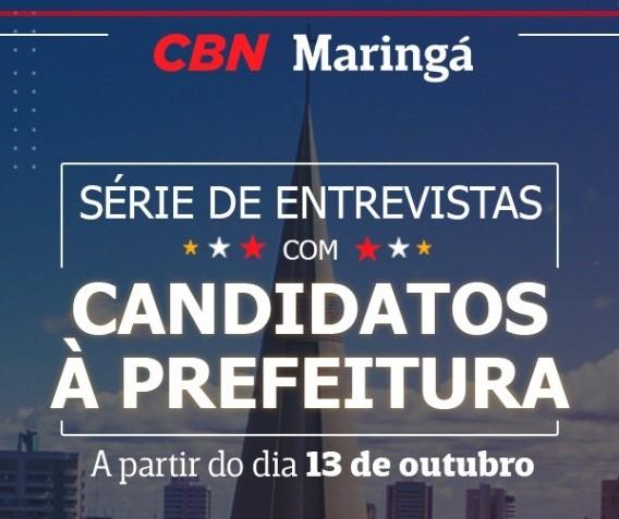CBN entrevista candidatos a prefeito e a vice-prefeito de Maringá