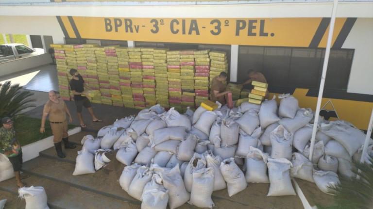 4,7 toneladas de maconha são apreendidas em carga de sementes de chia