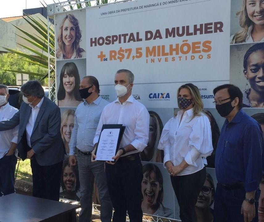 Ordem de serviço para a construção do Hospital da Mulher é assinada