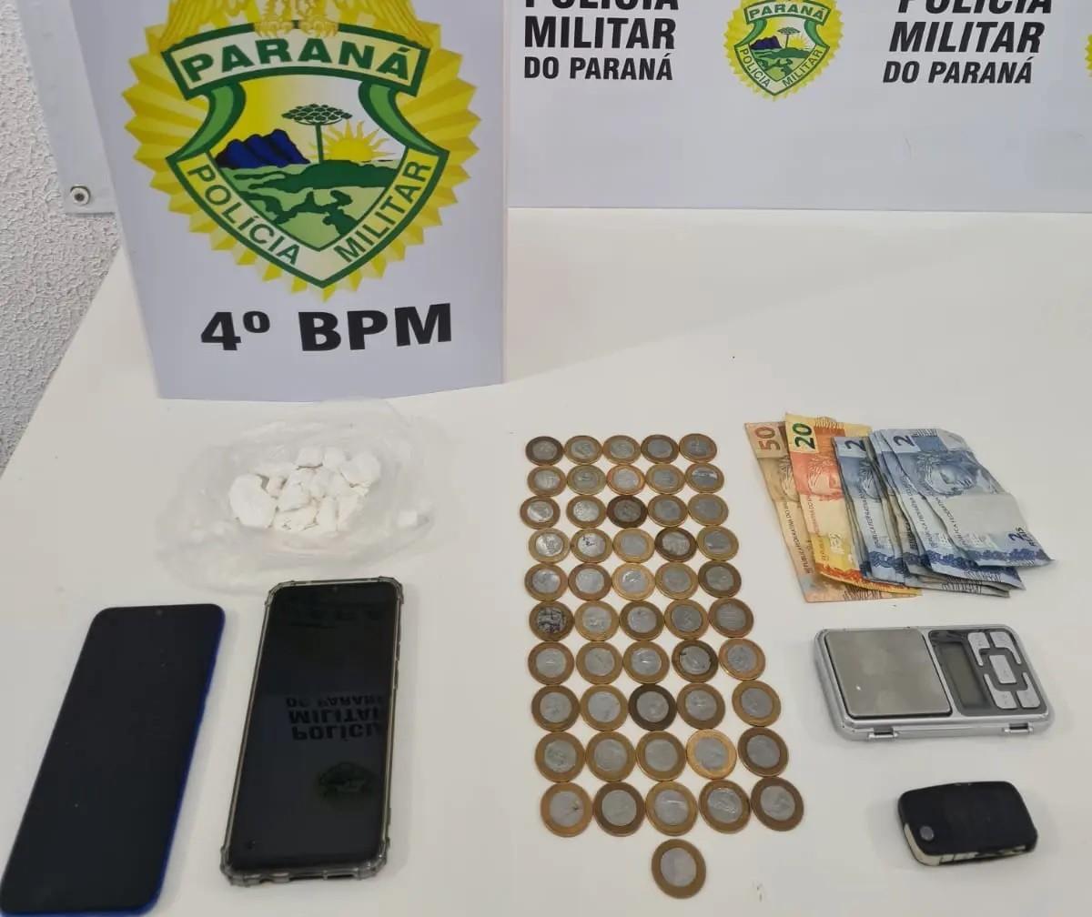 Homem é preso vendendo cocaína na Zona 8, em Maringá
