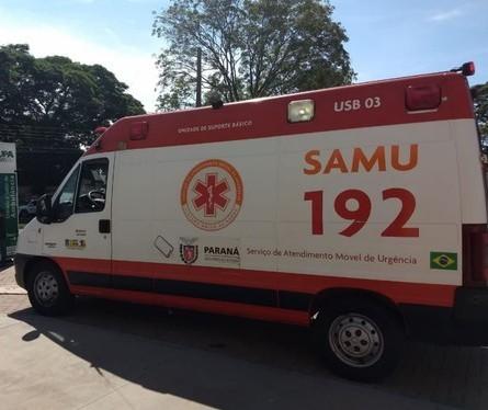 Motociclista fica gravemente ferido em acidente na Avenida Paraná