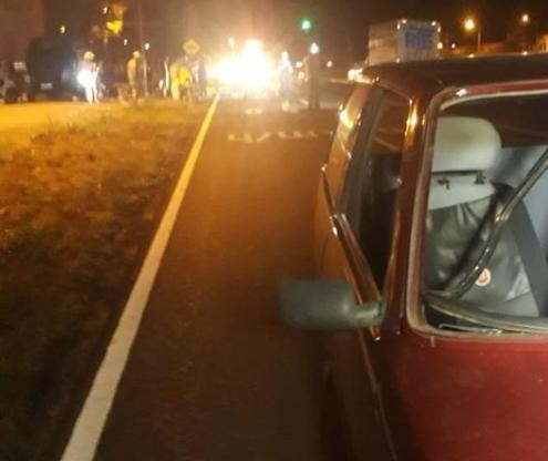 Pedestre fica em estado grave após ser atropelado por carro em Maringá