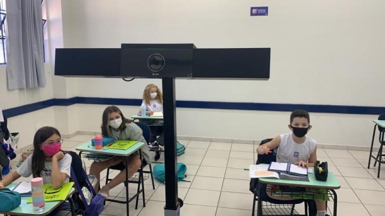 Robô permite que alunos do ensino remoto tenham a mesma experiência da sala de aula
